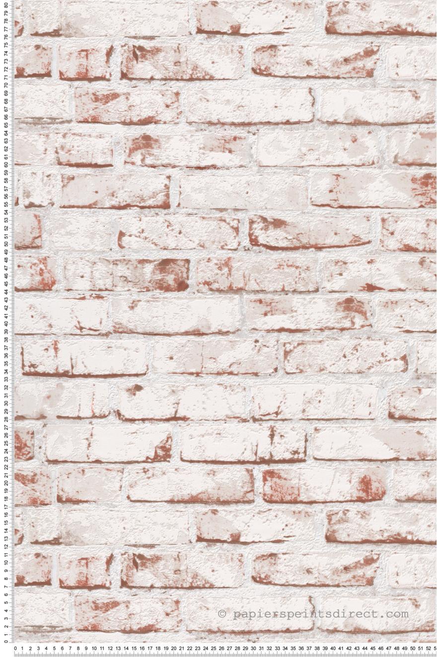 Style industriel : Papier peint brique rouge