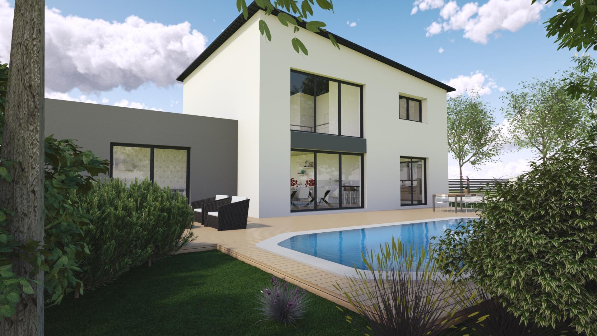 Maison créée à l'aide d'un Logiciel d'architecture 3D