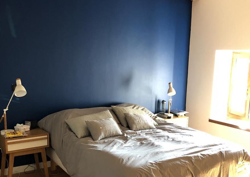 mur de couleur en peinture