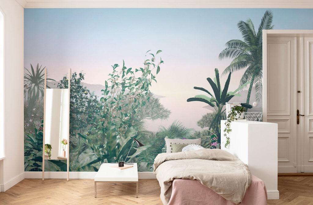 papier peint panoramique pour décorer un bien destiner à la location saisonnière