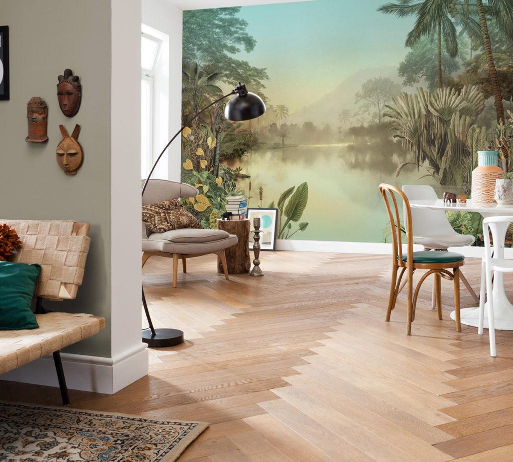 Poser une fresque murale dans le salon ou la salle manger