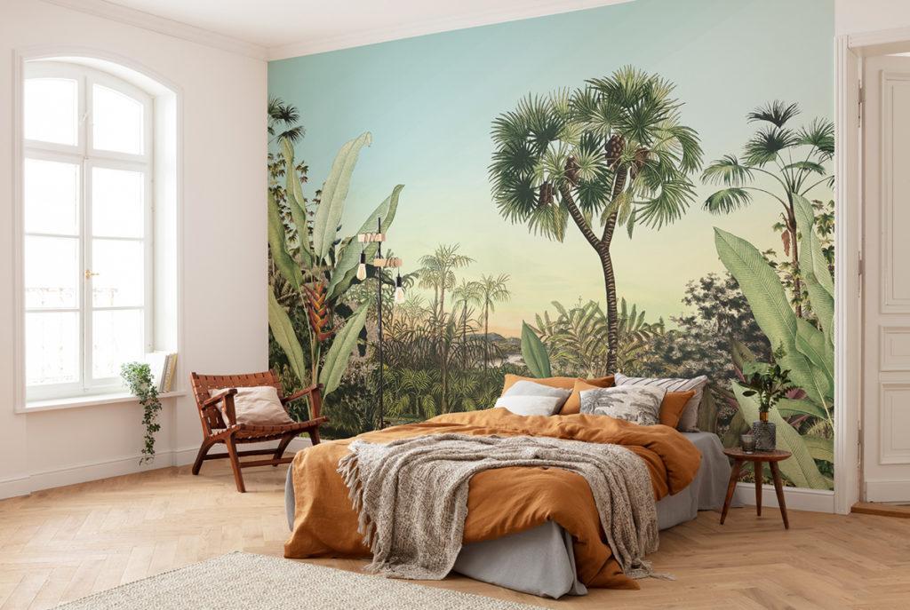 papier peint panoramique Oasis en tête de lit