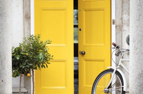Porte d'entrée peinte