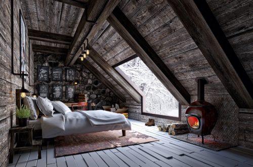 Chambre cocooning à la montagne