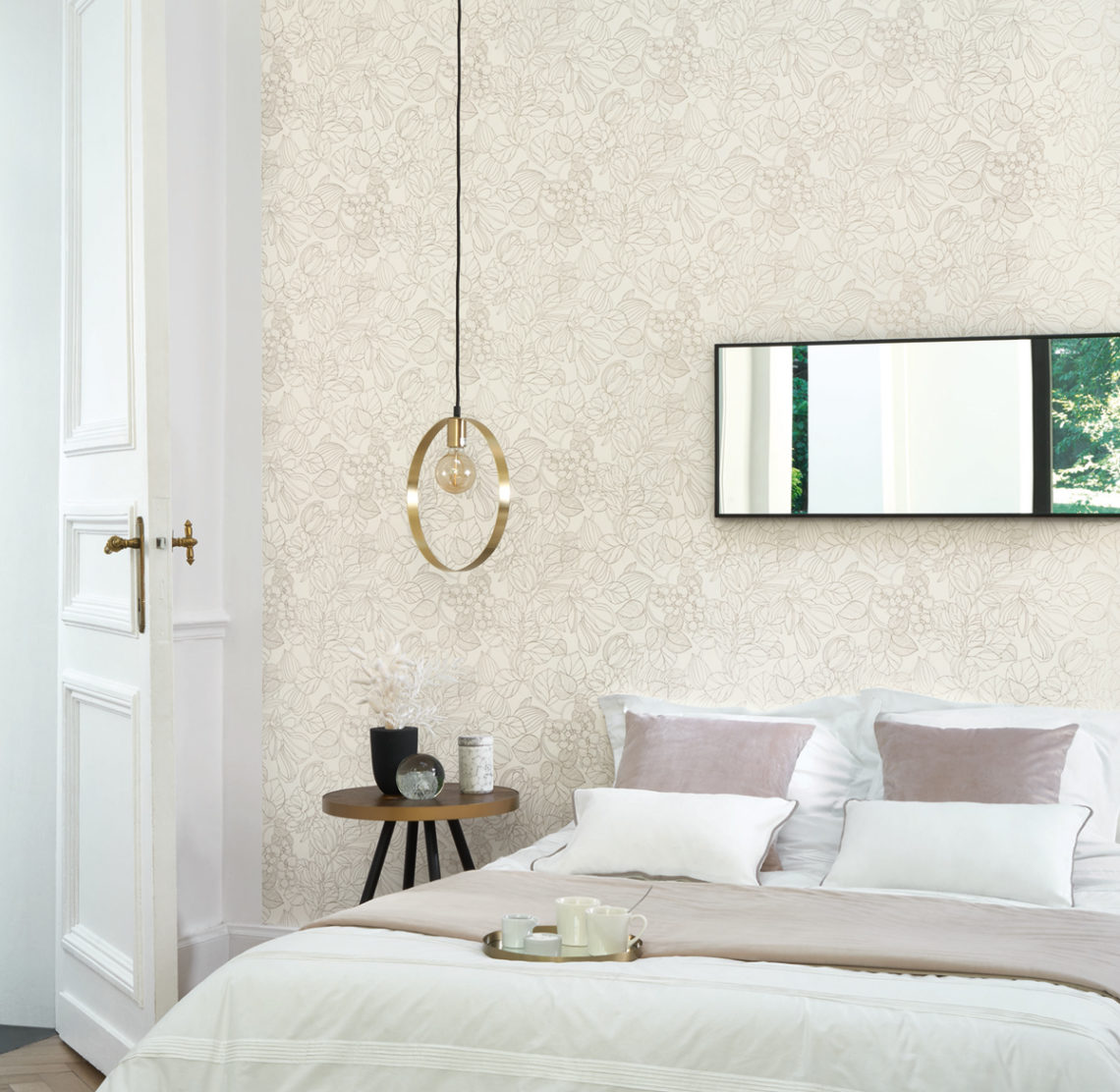 papier peint blanc pour un intérieur lumineux
